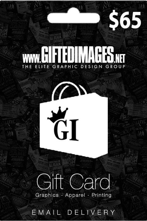 $65 Digital Gift Card