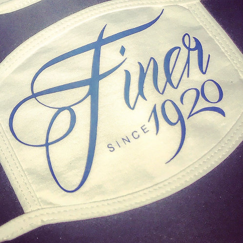 """""""Finer since 1920"""" 100% Cotton Face Cover"""