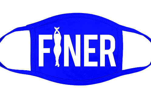 """FINER"" Royal blue 100% Cotton Face Cover"
