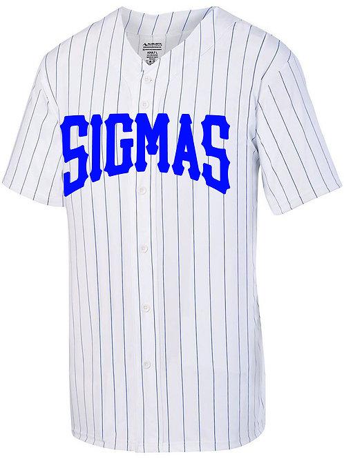 Sigmas Pinstripe Full Button Jersey