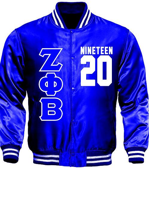 ZPB Satin Royal Baseball Bomber Jacket