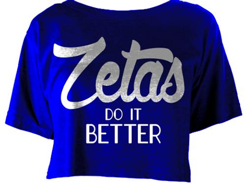 Zetas DO It Better Flowy Boxy T‑Shirt