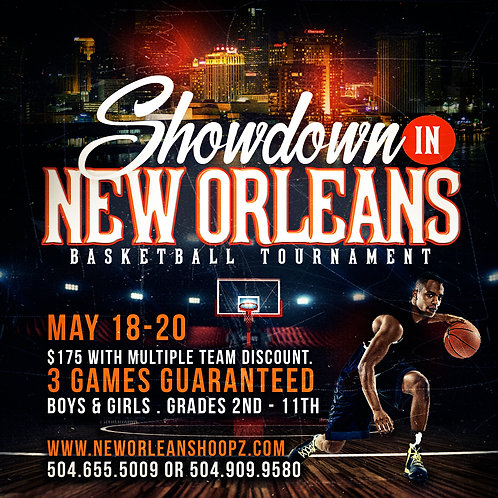 New Orleans Basketball Flyer Template