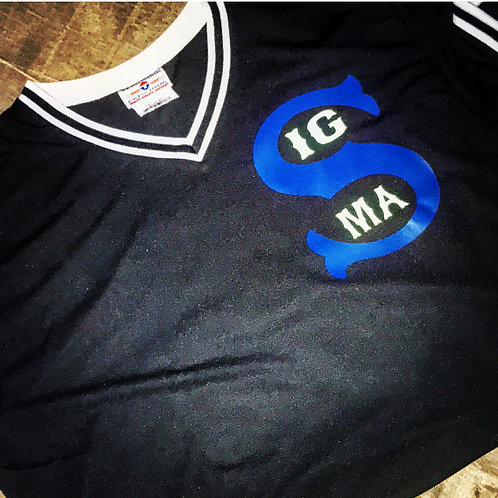 Vintage SIGMA BlackMAB V-Neck Jersey