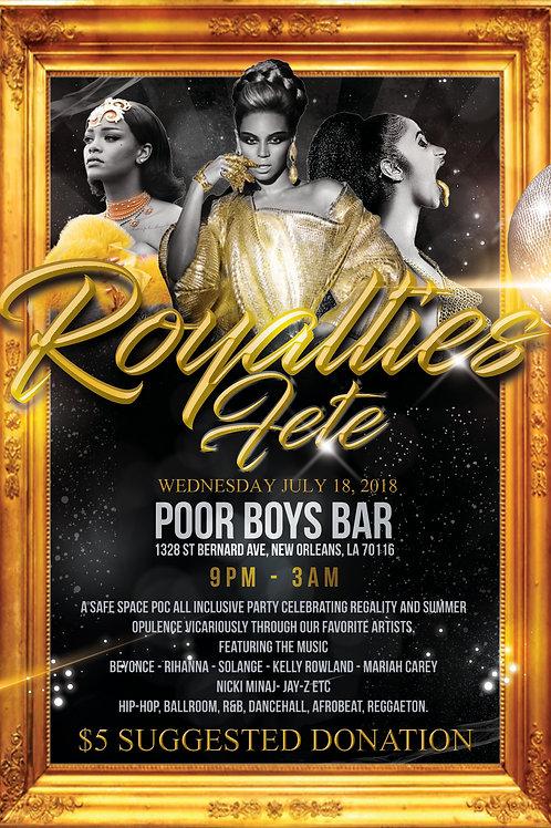 Royalties Flyer Template