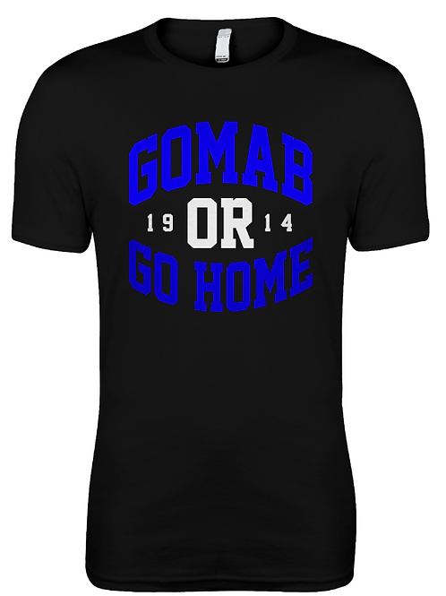 GOMAB or Go HOME Premium Fitted Tee