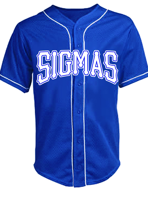 Sigmas Walk Off Full Button Piped Jersey