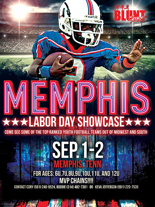 Labor Day Football Flyer Template
