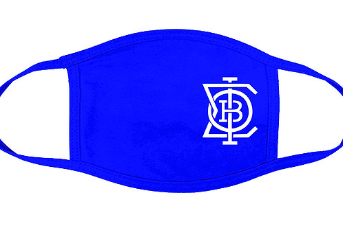 """PBS """"DRIPPIN"""" Royal blue 100% Cotton Face Cover"""