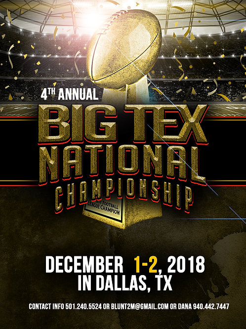 Big Tex Football Flyer Template
