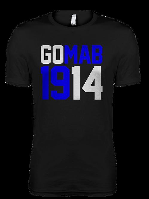 GOMAB1914 Black Premium Fitted Tee