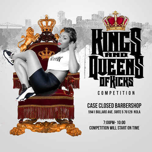 Kings and Queens of Kicks Flyer Template