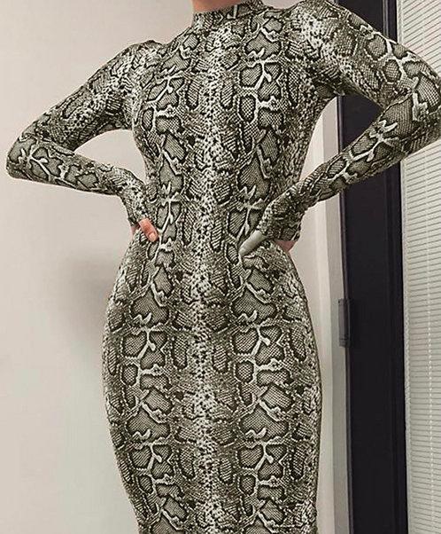SHI SNAKE PRINT DRESS