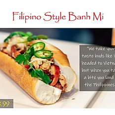 Filipino Style Banh Mi Sandwich