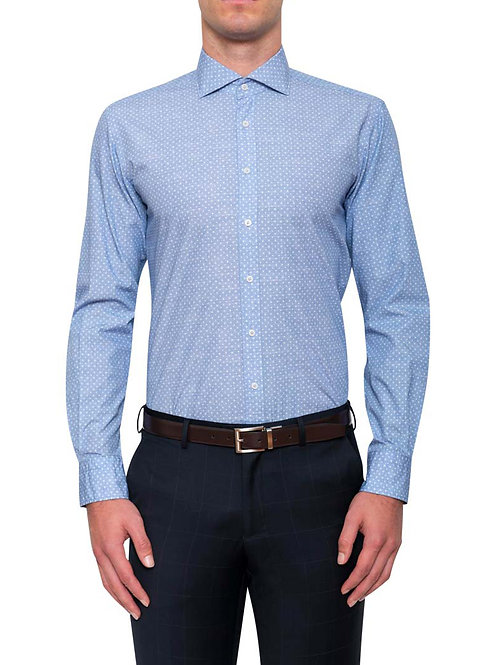 Cambridge Lewis Light Blue Print Shirt