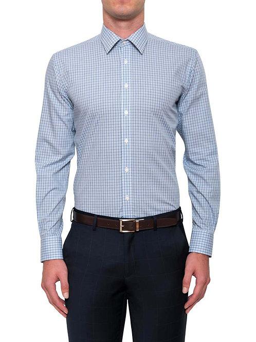 Cambridge Kean Plaid Blue Shirt