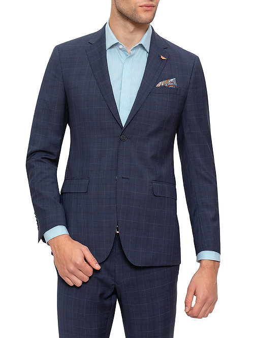 Gibson Tailor Navy Check suit