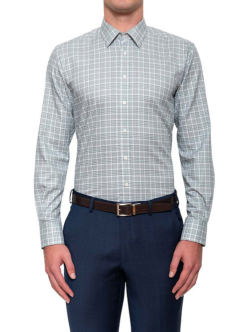 Cambridge Baines Plaid Navy Shirt