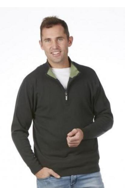 Merino Wool Cashmere 1/4 zip sweater