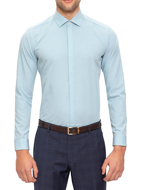 Gibson Diame Pale Blue Print Shirt