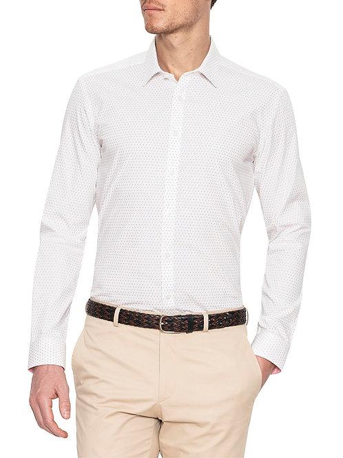 Gibson Shawcross White Print Shirt