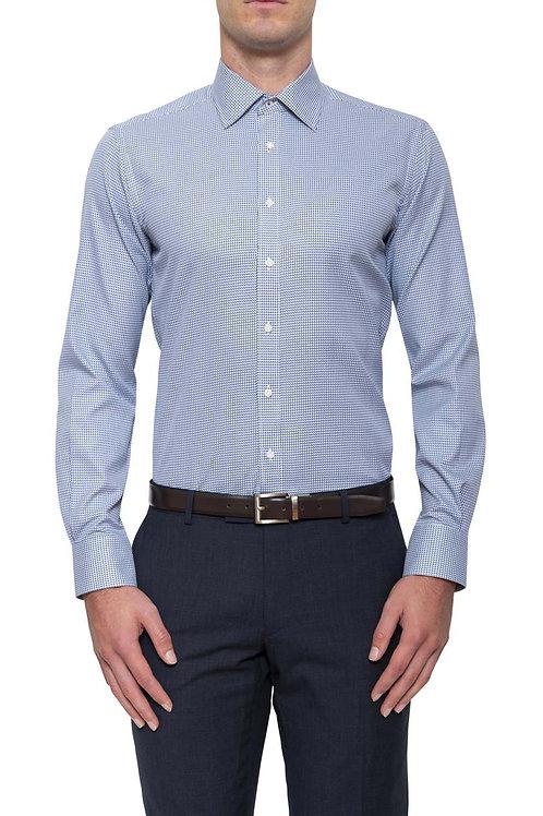 Cambridge Brooks herringbone Dark Blue Shirt