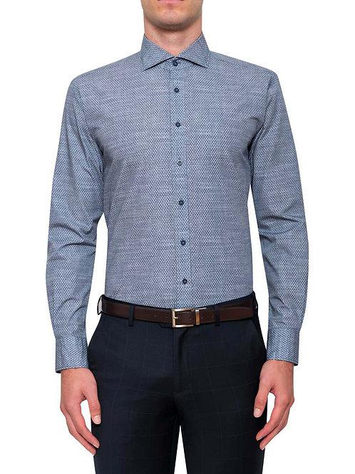Cambridge Oriol Blue Print Shirt