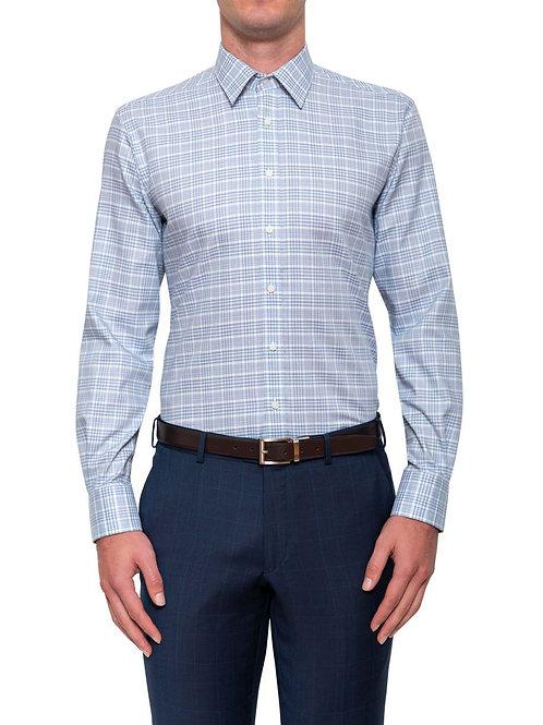 Cambridge Walcott Plaid Blue Shirt