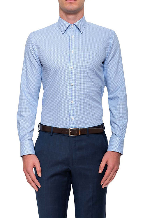 Cambridge Brooks herringbone Light Blue Shirt