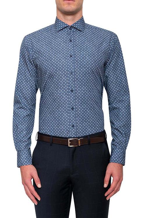 Cambridge Samson Navy Print Shirt