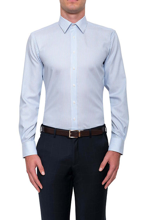 Cambridge Calvert Light Blue Stripe Shirt