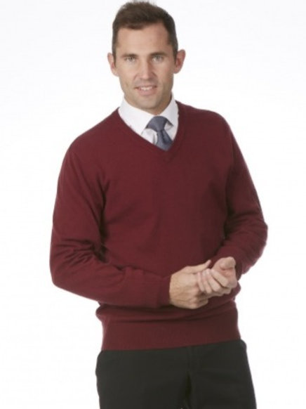 Merino Wool Cashmere 'V' neck sweater