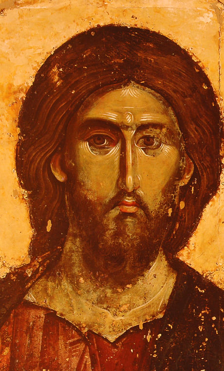 photo of a miracle icon the Christ , fro
