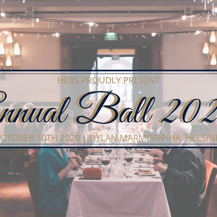 Annual Ball 10.10.2020 / CANCELLED