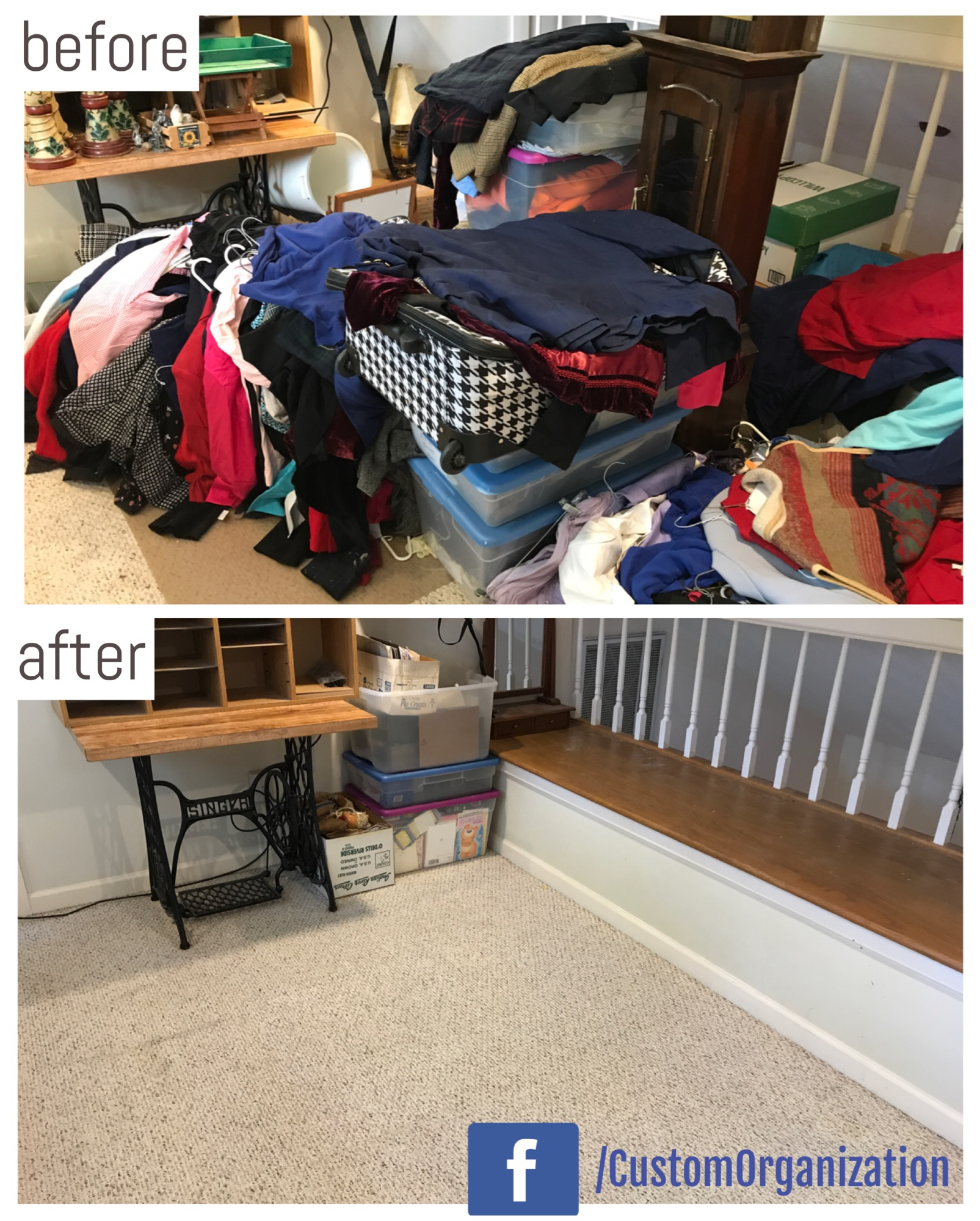 overflow area declutter & organize