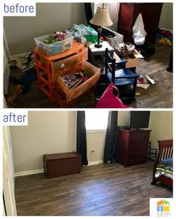 bedroom declutter & organize