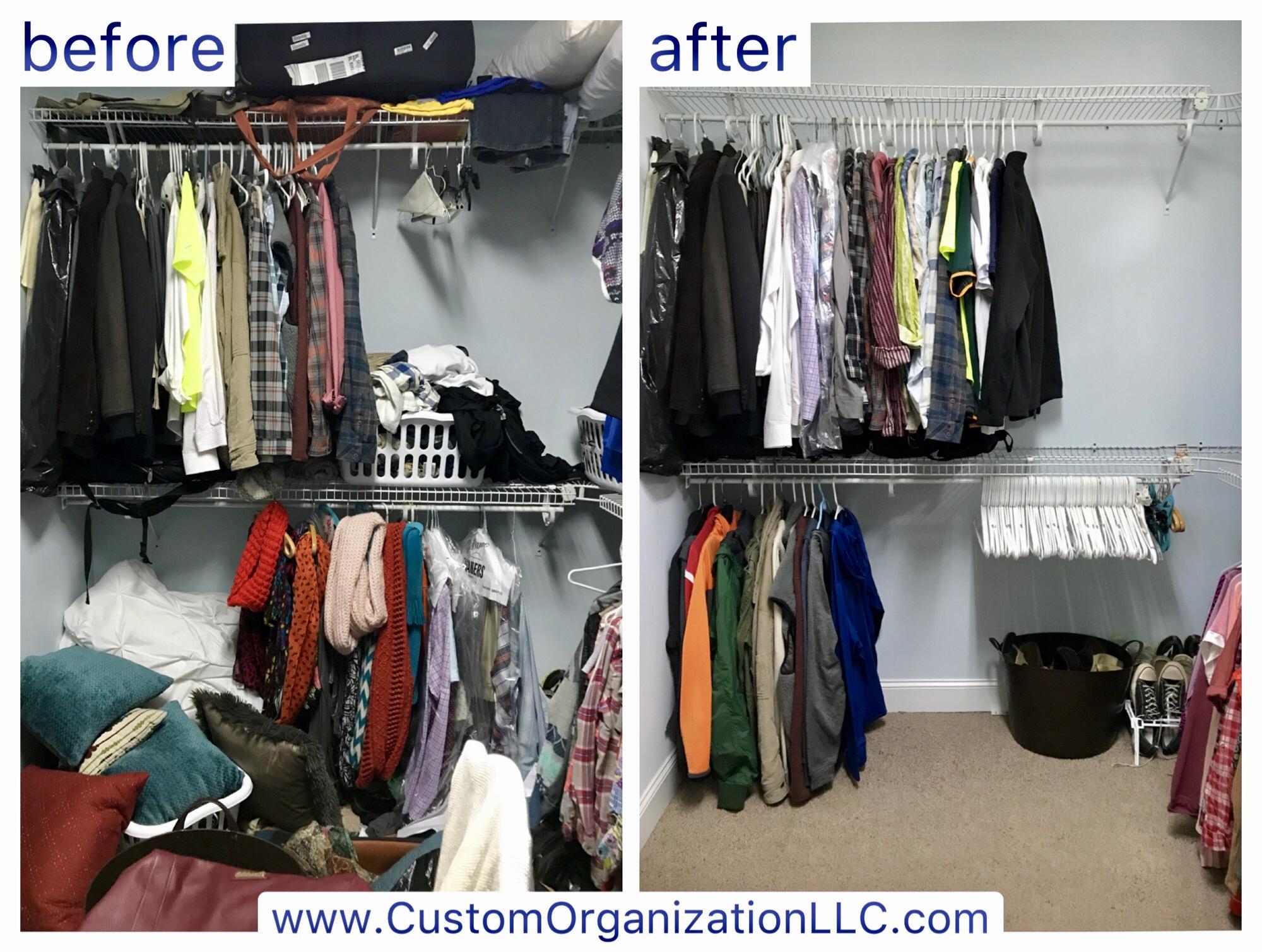 Master closet declutter & organize