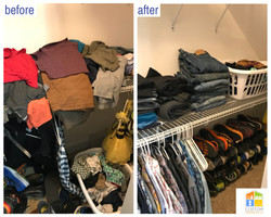 closet declutter & organize