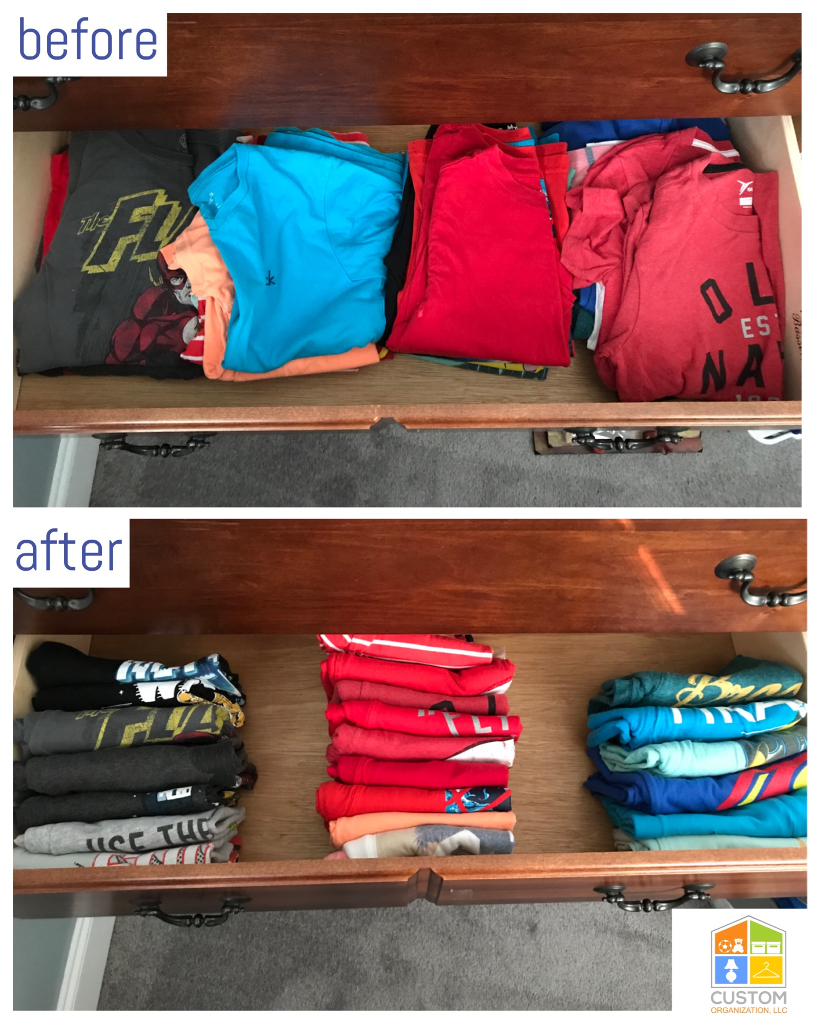 konmari fold boys clothes