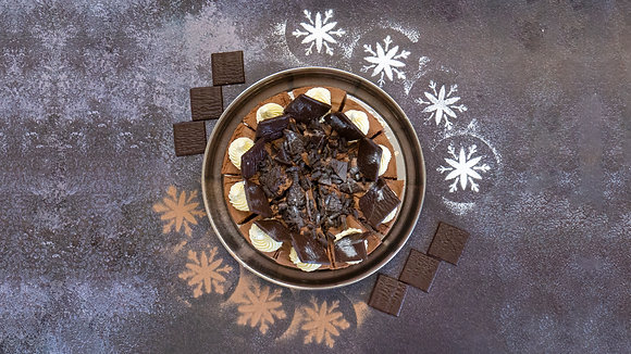 Dark Chocolate Torte with After Eight Mints