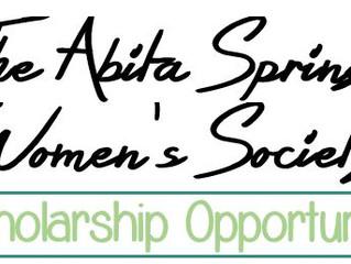 Scholarship Opportunity from The Abita Springs Women's Society