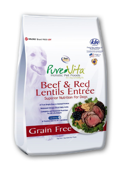 PureVita GF Beef & Red Lentils Dog Food