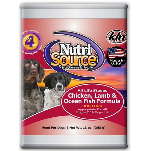 NutriSource Chicken Lamb & Fish Can 13 oz. Dog Food