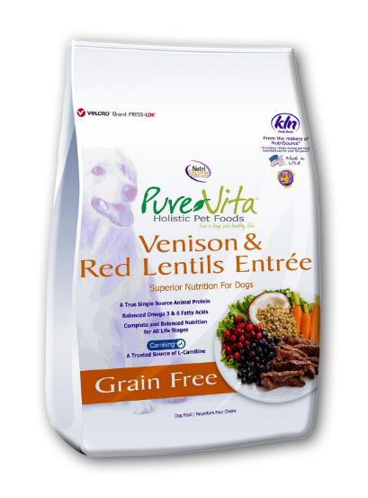 PureVita Venison & Red Lentils GF Dog Food
