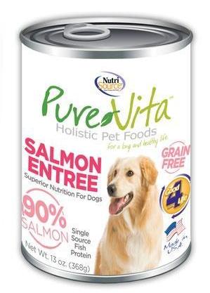 PureVita Salmon Entree Can 13 oz. Grain Free Dog Food
