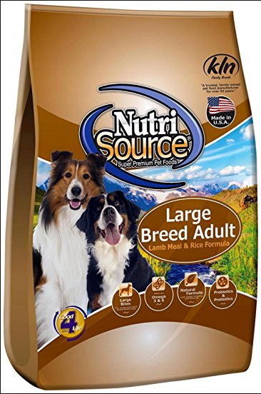 NutriSource Large Breed Adult Lamb & Rice Dog Food