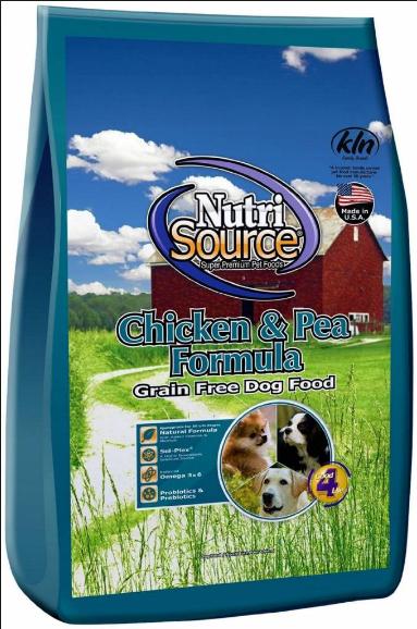 NutriSource Chicken & Pea Grain Free Dog Food