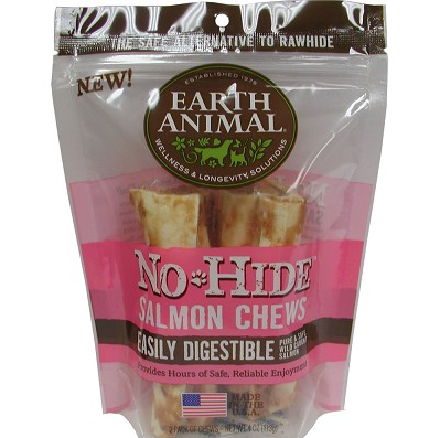 Earth Animal No Hide Salmon Chew 4 in. 2 pk.