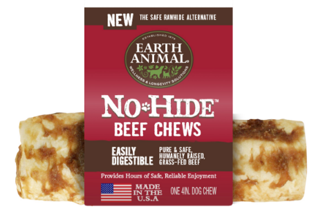 Earth Animal No Hide Beef Chew 4 in.