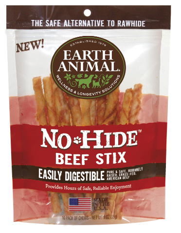 Earth Animal No-hide Beef Stix 10 pk.